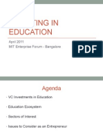 Investing in Indian Education Ecosystem
