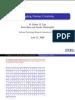 Mapping Human Creativity