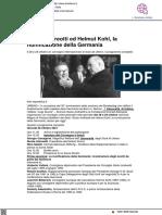 Andreotti e Kohl, la riunificazione della Germania