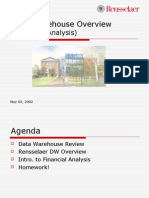 Data Warehouse Overview 20020502