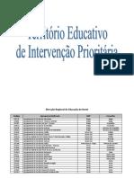 Lista de Escolas TEIP e de Autonomia