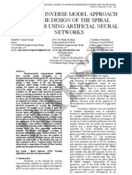 5.Ijaest Vol No 5 Issue No 2 a Novel Inverse Model Approach for the Design of the Spiral Inductor Using Artificial Neural Networks 132 138