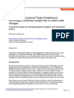 Use Rational Functional Tester Script Assure Technology to Build Test Scripts That Run When Code Changes