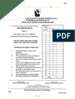 Percubaan Pmr Math2 2009