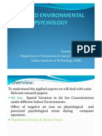 Applied Environmental Psychology