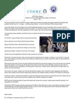 HRTF Press Release About Boeng Kak Lake