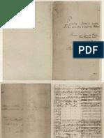 Original Manuscript of  Matthaeus Passion