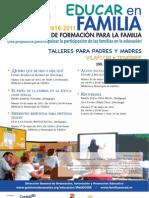 PLAN CANARIO DE FORAMACIÓN PARA LA FAMILIA - EDUCAR EN FAMILIA - VILAFLOR