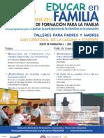 PLAN CANARIO DE FORMACIÓN PARA LA FAMILIA - EDUCAR EN FAMILIA - TEJINA Y VALLE GUERRA