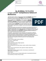 Università di Urbino tra le migliori cinque del Campionato Italiano di Mediazione - Vivereurbino.it, 26 ottobre 2021