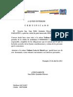 CERTIFICADO DE HONORABILIDAD