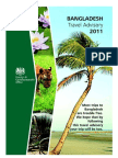 Travel advisory for Bangladesh