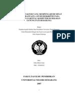Faktor-faktor Yang Mempengaruhi Minat Berwiraswasta (Studi Deskriptif Pada Usahawan Rental Komputer Di Sekaran Gunung Pati Semarang)