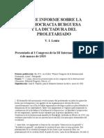 Tesis e Informe Sobre La Democracia Burguesa