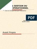 Bale II & Gestion Du Risque Operationnel