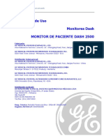 Monitor Multiparamétrico Dash 2500 - GE