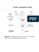 Three Level Architecture of DBMS
