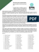 Solicitada EPPA - Control de Precios