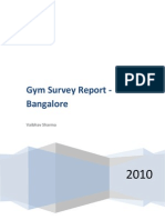 Gym Survey - Bangalore 2010