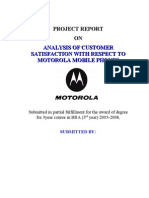 Customer Satisfaction With Respect to Mobile Phones