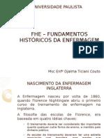 FHE FUNDAMENTOS HISTÓRICOS DA ENFERMAGEM aulas 1 e2