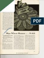 Ripe Wheat Doily Runner