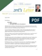 AMA President's Letter, April 15, 2011