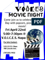 VOICES Napa April Movie Night, Friday April 22