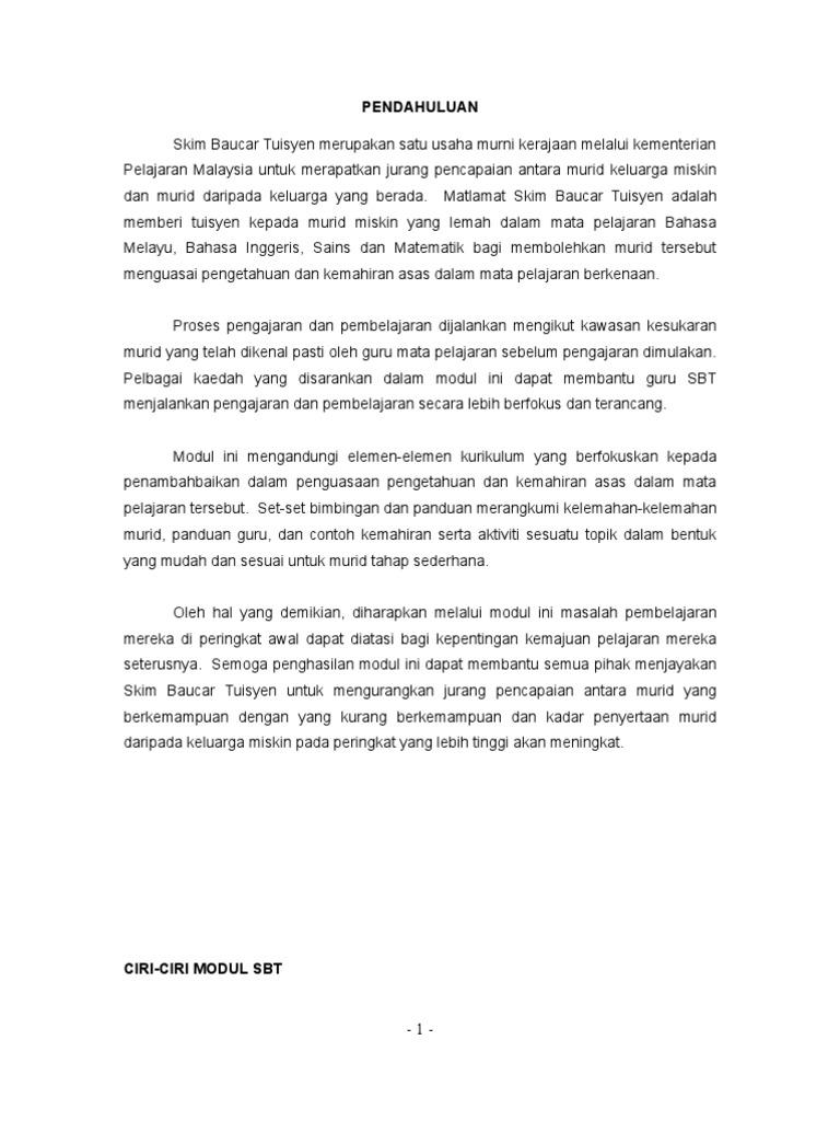 Rancangan P P Baucer Tuisyen Bahasa Inggeris Tahun 5