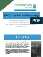 11 04 EPA Rule Making Webinar