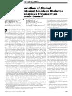 ADA Consensus Inpatient Glycemic Control