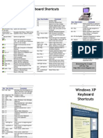 Windows XP Keyboard Shortcuts