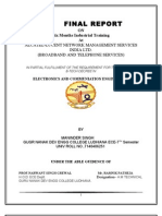 BROADBAND AND TELEPHONE SERVICES Training Report