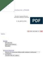 Introduccion Matlab para Ingenieria de Control
