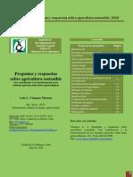 LUIS VAZQUEZ Agricultura Sostenible Preguntas y Respuestas 2008