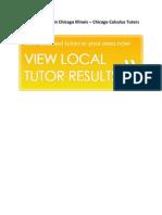 Calculus Tutors in Chicago Illinois