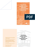 Cal Osha Pocket Guide for the Construction Industry This Guide