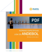 Normas Especificas Andebol (Liga Do Inatel)