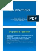 Cours Les addictions UE7A Dr Sandrine TRAPE