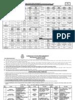 MA MCom SIM Timetable 2011