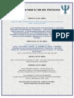 Programa Para El Dia Del Psicologo  2011
