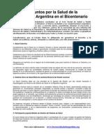 Documento PRELIMINAR rio - 22 Puntos Por La Salud en Argentina --- Julio2010 1