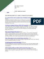 AFRICOM Related News Clips 22 April 2011