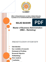 Effect of Brand Extension on the Sale of LU Bakeri Biscuits -Majid Bashir (4750)