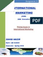 International Marketing Assgn II