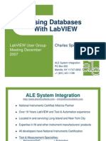 Using Databases Labview