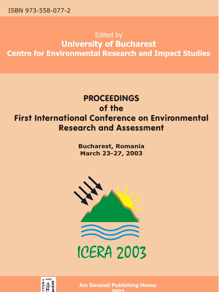 Proceedings Of The First International Conference On Environmental Index Schematics Byfunction Tone Control Passivetonecontrol Research And Assessment Bucharest Romania March 23 27 2003 Wetland Sea Level Rise