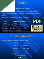 Syllable Stress 1