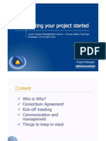 Getting Your Project Started in FP7