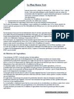Le Plan Maroc Vert